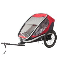 HAM400004 Outback bicycle trailer red grey web