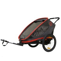 HAM400005 Outback bicycle trailer red charcoal web