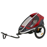 HAM400007 Outback ONE bicycle trailer red grey