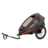 HAM400008 Outback ONE bicycle trailer charcoal red